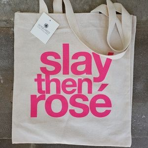NWT Dogeared Slay then Rose tote bag